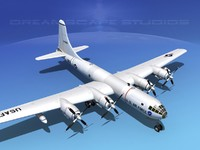 3dsmax scale boeing b-50 superfortress