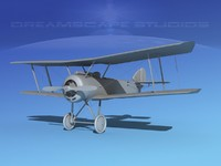 3d model cockpit fighter vbm sopwith pup