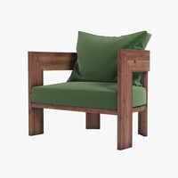 3d model minotti warhol iroko chair