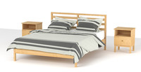 Queen bed 209 x160 Ikea tarva