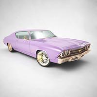 1969 chevrolet chevelle ss 3d model
