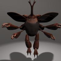 rhino beetle character 3d ma