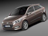 3d model 2015 hyundai i20