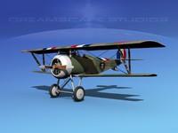 3d model of high-poly nieuport 17