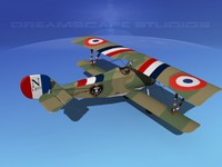 high-poly nieuport 17 fighter aircraft 3d max