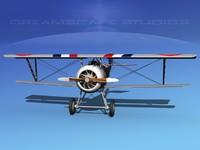 high-poly nieuport 17 3d max
