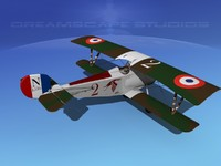 3d model nieuport 17 fighter aircraft