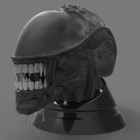 3d model alien head