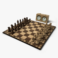 3ds max chess set 2 hd