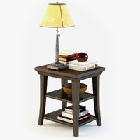 pottery barn metropolitan table 3d max