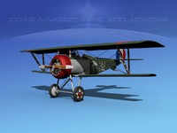 high-poly nieuport 17 3d model