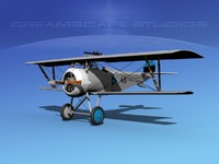 high-poly nieuport 17 fighter aircraft dwg