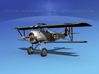 maya high-poly nieuport 17 fighter aircraft