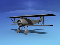 high-poly nieuport vbm 17 3d model