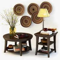 pottery barn decorative set 3d model