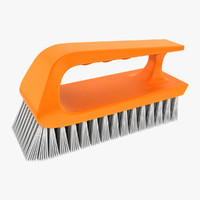 3d hand scrub brush model