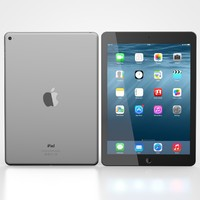3d ipad air 2 black model