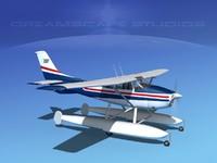 propeller cessna 182 skylane 3d max