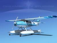 3d model propeller cessna 182 skylane