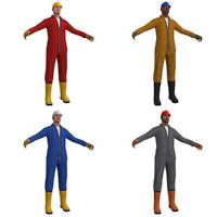 3d pack worker model