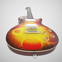 3d gibson les paul guitar