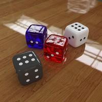 3d realistic dice