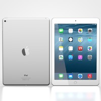ipad air 2 white 3d model
