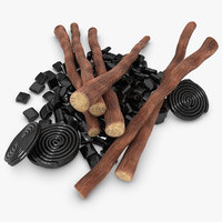 3d licorice candy roots
