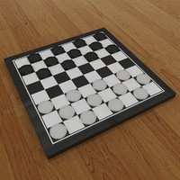 3d checkers board