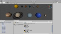 Solar System (Sun Planets Moon) UV textured assets