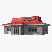3d model pizza hut restaurant