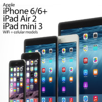 apple iphone 6 ipad 3d max