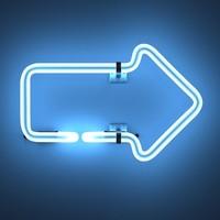 3d model neon arrow