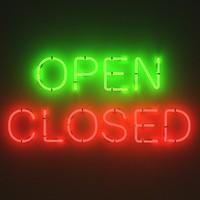 neon signs - open 3d model