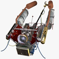 marine engine 3d model
