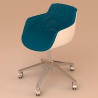 3d model skids chair