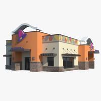 taco bell restaurant 3d max