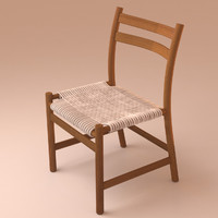 3d model braided deck chair stuhl