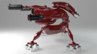 robot 3d blend
