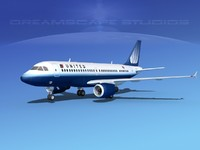 3d model of scale airbus a319 airliner