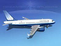 3d scale airbus a319 airliner model