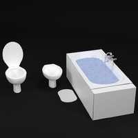 3d model bathroom bathtub water