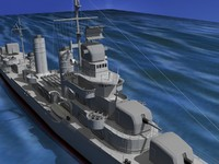 anti-aircraft destroyers class gleaves 3ds