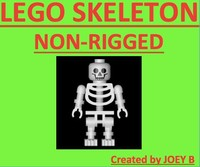 lego skeleton 3d model