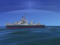 anti-aircraft class destroyers 3d dxf