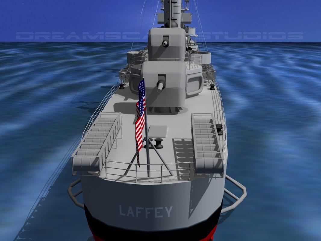 Benson Class Destriyer USS Laffey DD459 108.jpg