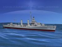 anti-aircraft class destroyers 3d max