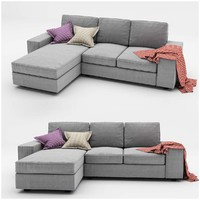 kivik 3 ikea sofa 3d model