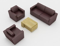 set leather sofa max