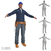 3ds max worker lods